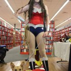 Wonder Woman and Super Dog took a break from fighting crime to visit the event.