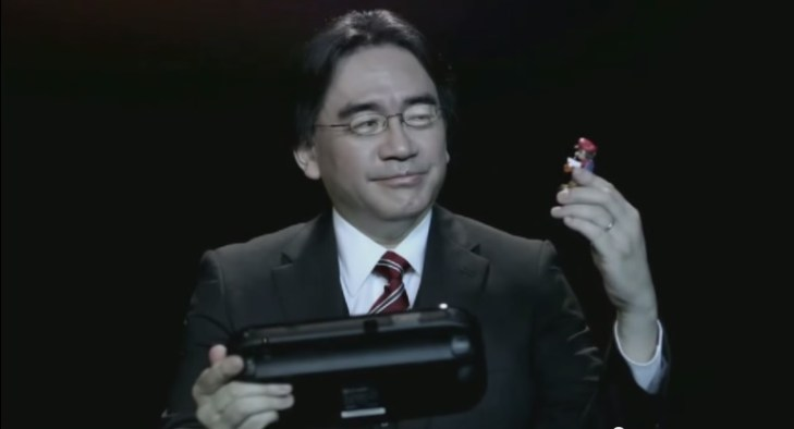 Iwata in a promotional video for the Wii U in 2014.