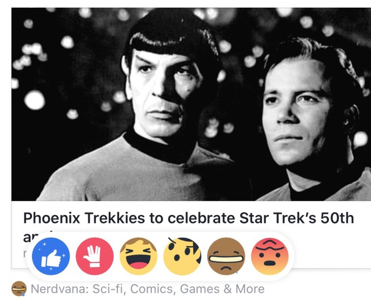 Star Trek Facebook Reactions