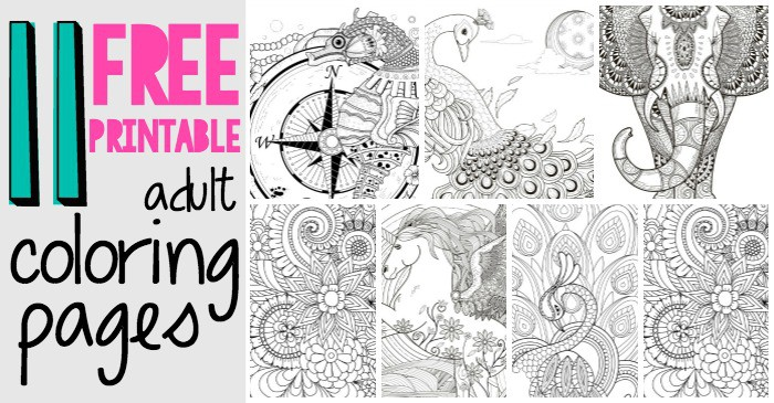 18 Absurdly Whimsical Adult Coloring Pages Nerdy Mamma – Printable Adult Coloring Page