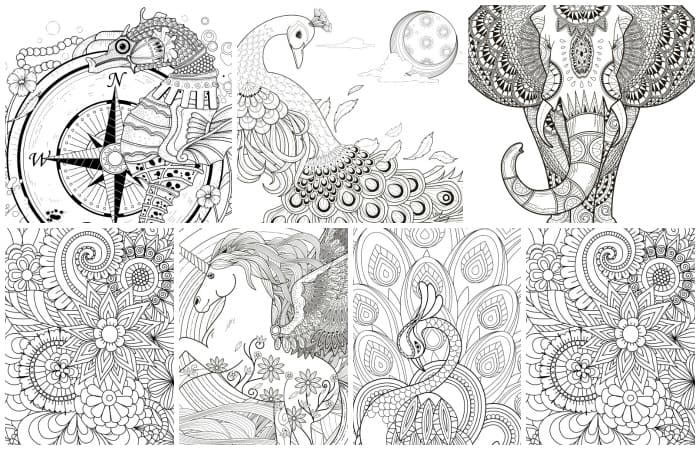 11 Free Printable Adult Coloring Pages