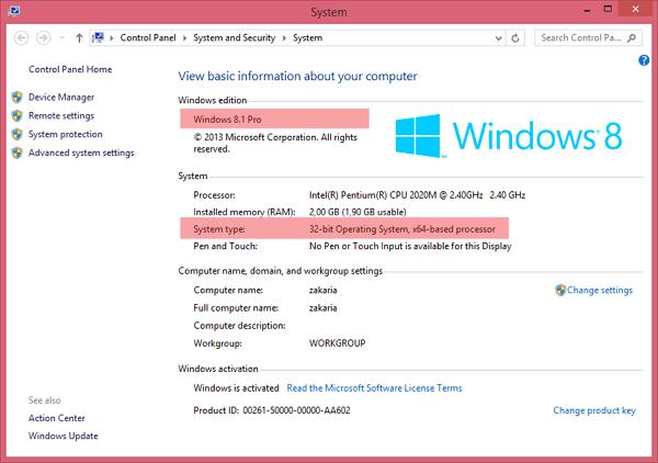 cara melihat versi windows 1