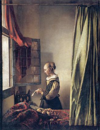 Vermeer's Girl Reading A Letter