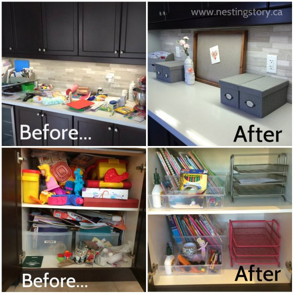 Organized Kitchen Before And After: The Catch-All, Clutter Organizational Solution That Will