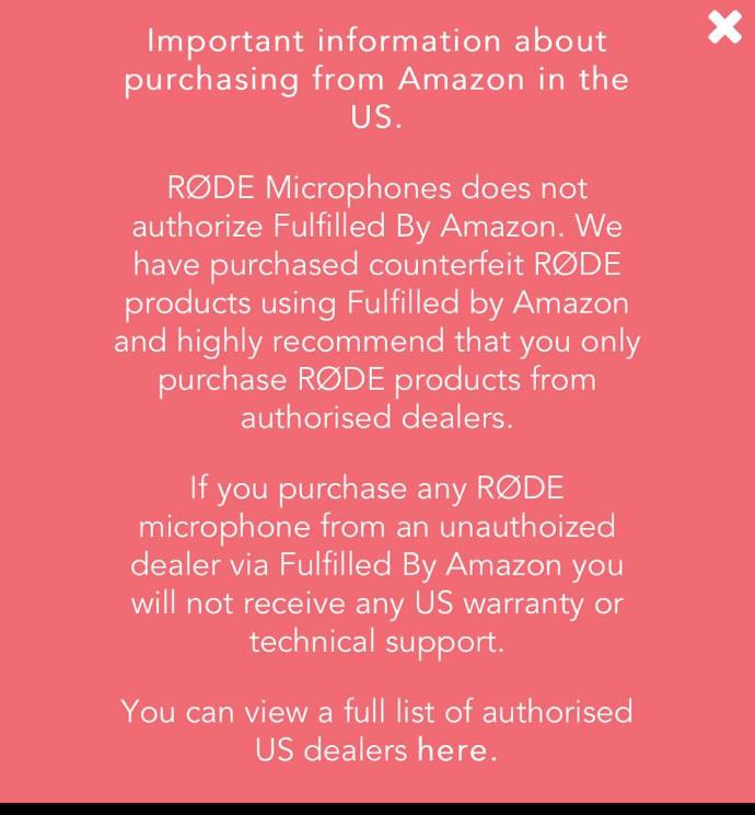 Hey filmmakers Have you purchased a Rode microphone from Amazon?hellip