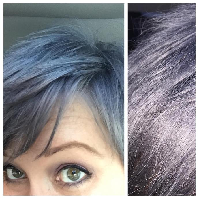 So hard to capture the color! lavenderhair silverhair purplehair violethellip