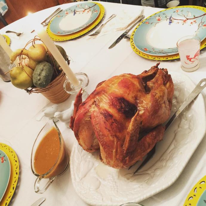 The bird itssophia cooked our entire Thanksgiving meal from scratch!hellip