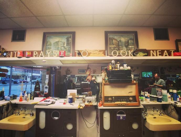 The neighborhood barber barbershop vintagestyle brookfield brookfieldIL neighborhood chicagoland