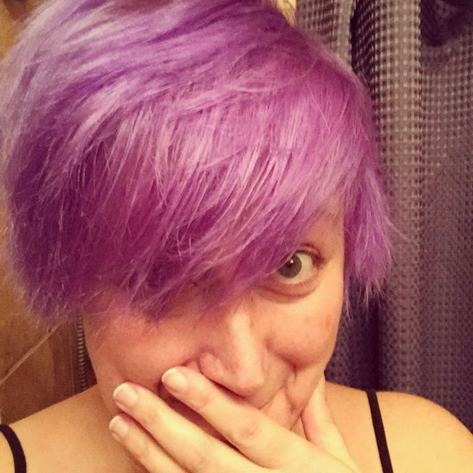 WHOOPSIE! Well this round didnt go as planned haircolor purplehairhellip