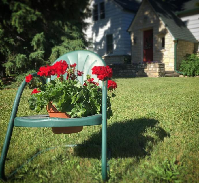 Beautiful summer weekend in DoorCounty! geraniums summer Wisconsin