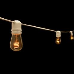 industrial light string white cord