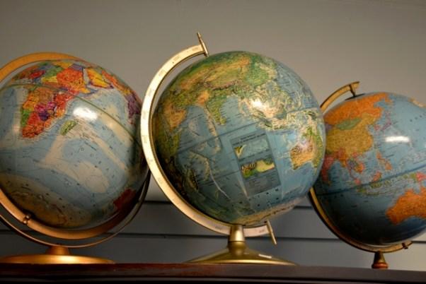 Vintage globe grouping
