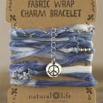 Let it Be fabric wrap bracelet