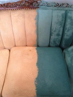 That time I painted a Victorian sofa…with PAINT.