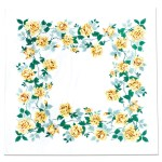Vintage-style yellow roses tablecloth