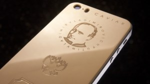 The Gold Putin iPhone, a really shinny gadget.