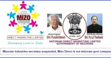 Mizoram Direct Marketing Limited has No connection With Mizoram Government