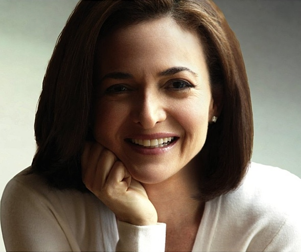 Sheryl Sandberg auf dem Einband ihres Frauenmanifests.