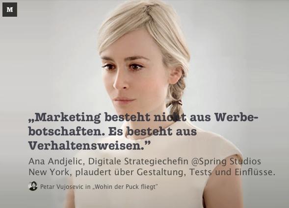 """""""Marketing besteht nicht aus Werbebotschaften. Es besteht aus Verhaltensweisen."""""""