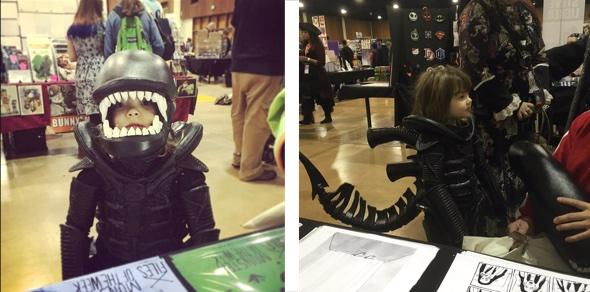 Alien Besucher auf Eugene ComicCon.