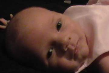 This shows the most beautiful baby girl in the world.