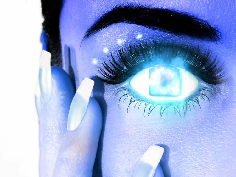 Photo of a cyborg woman.