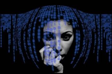 Image shows binary code.