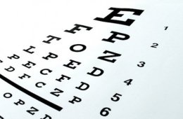Image shows an eye chart.
