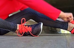 Image shows pair of running shoes.