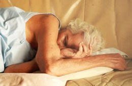 Image shows a sleeping lady.