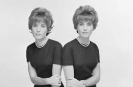 Image shows a set of twin women.
