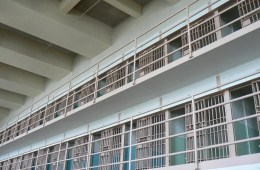 Image shows a prison cell.