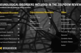Image shows a illnesses zolpidem could treat.
