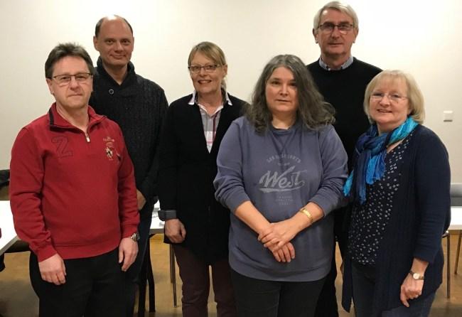 Von links: Heinz Rupprecht, Michael Bayer, Gitte Weidenauer,  Sonja Hilbert, Helmut Kemnitzer, Carola Biehal.