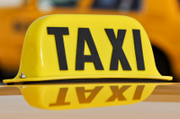 Taxi Sign Close Up
