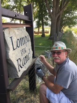 Compelling Terry Hulbert Touches Up Sign At Lompa Touching Up Sign Nevada Prison Ranch It Up Gif Ranch It Up Episode