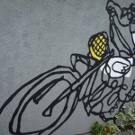 Fresque sur le mur extérieur