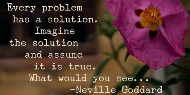 What Is The Solution? by Neville Goddard