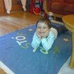 Kristóf az űrhajós takarójával :-)