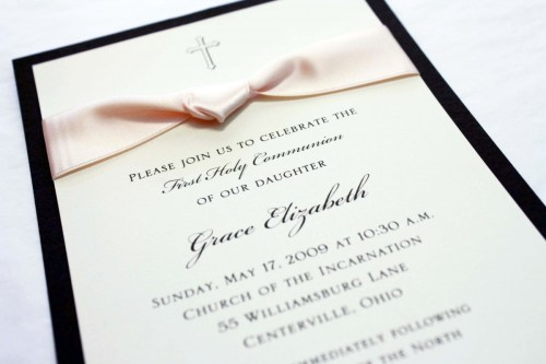 Medium Of First Communion Invitations