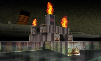Conceptual art for Hells Belltower, the central hub of Dark Harbor