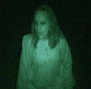 A ghoul on the path of the Hayride of Nightmares