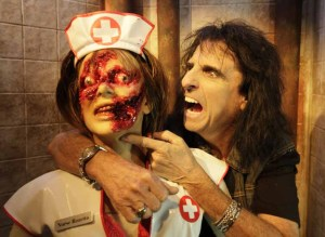 Alice Cooper with Nurse Rosetta