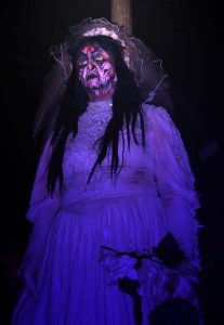 One of the haunting spirits at the annual Knotts Berry Farm Halloween Haunt