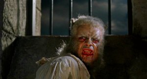 Oliver Reed in Roy Ashton's werewolf makeup, seen only briefly in the film
