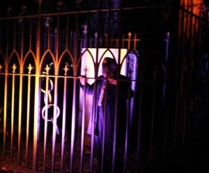 Ghost Tour at Strathearn Park: a crazy old man hears voices - perhaps he hears the audience listening to him?