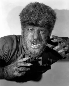 The Wolf Man (1941) Lon Chaney in makeup publicity still