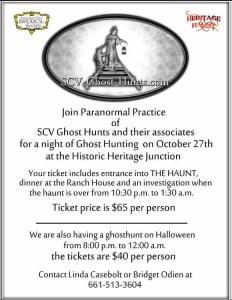 SCV Ghost Hunts