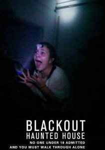 blackout haunted house screaming woman