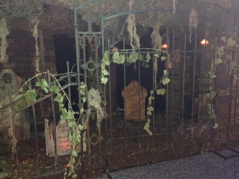 A creaky cemetery gate greeted those courageous enough to ascend to the 7th floor.